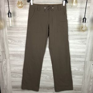 Lucy Brown Athletic Sport Drawstring Cargo Khakis